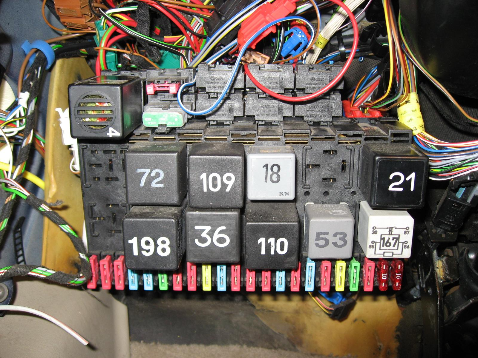 Audi B7 Rs4 Fuse Box Trusted Wiring Diagrams A4 Diagram Fourtitude Com P5 Passat Into A 98 Golf Wireing Problem