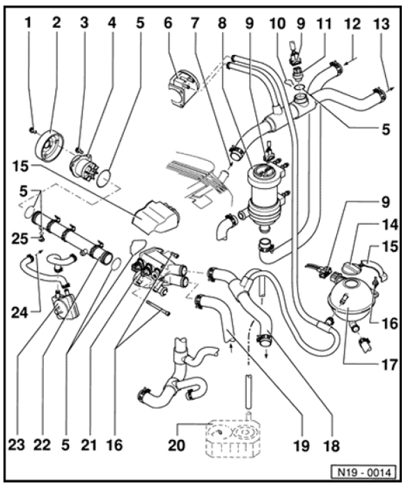 2001 jetta coolant sensor replace diagram
